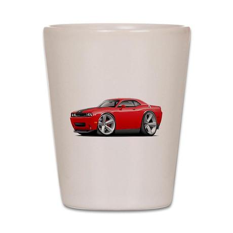 Challenger SRT8 Red Car Shot Glass