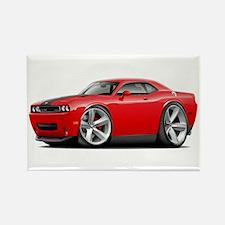 Challenger SRT8 Red Car Rectangle Magnet