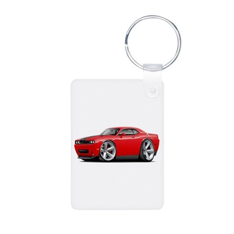 Challenger SRT8 Red Car Aluminum Photo Keychain