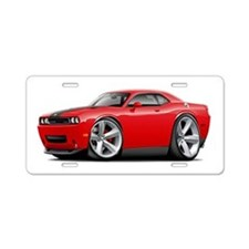 Challenger SRT8 Red Car Aluminum License Plate