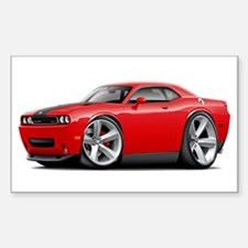 Challenger SRT8 Red Car Sticker (Rectangle)