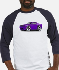 Challenger SRT8 Purple Car Baseball Jersey