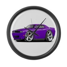 Challenger SRT8 Purple Car Large Wall Clock