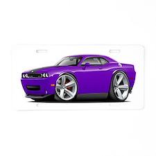 Challenger SRT8 Purple Car Aluminum License Plate