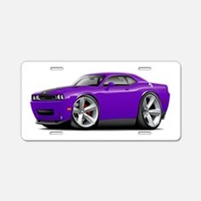 Challenger SRT8 Purple Car Aluminum License Plate