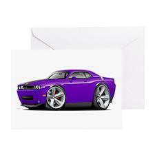 Challenger SRT8 Purple Car Greeting Card