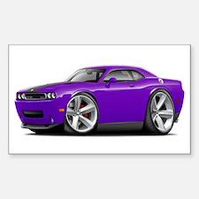 Challenger SRT8 Purple Car Decal