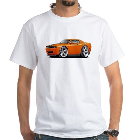 Challenger SRT8 Orange Car White T-Shirt