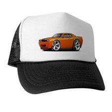 Challenger SRT8 Orange Car Trucker Hat