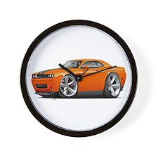 Challenger SRT8 Orange Car Wall Clock
