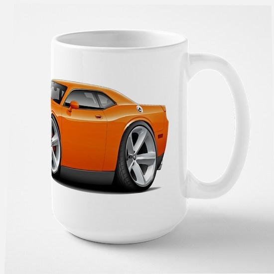Challenger SRT8 Orange Car Large Mug