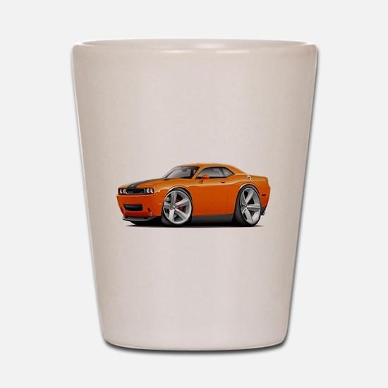 Challenger SRT8 Orange Car Shot Glass