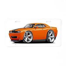 Challenger SRT8 Orange Car Aluminum License Plate