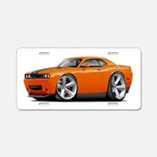 Challenger SRT8 Orange Car Aluminum License Plate