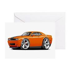 Challenger SRT8 Orange Car Greeting Card