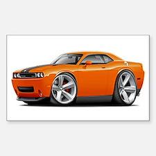 Challenger SRT8 Orange Car Decal
