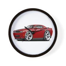 Challenger SRT8 Maroon Car Wall Clock