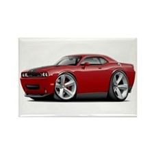Challenger SRT8 Maroon Car Rectangle Magnet