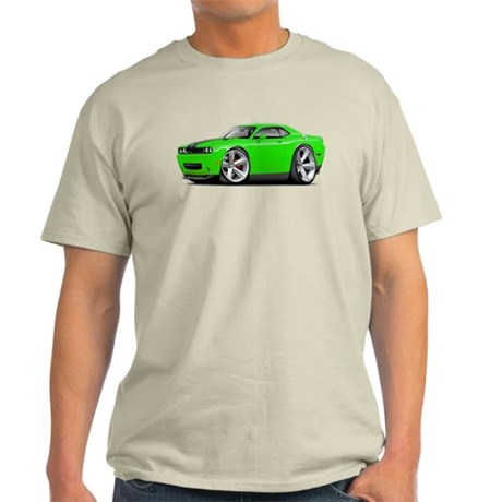 Challenger SRT8 Green Car Light T-Shirt