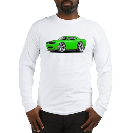 Challenger SRT8 Green Car Long Sleeve T-Shirt