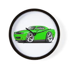 Challenger SRT8 Green Car Wall Clock
