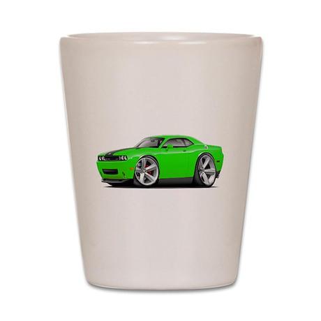 Challenger SRT8 Green Car Shot Glass