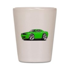 Challenger SRT8 Green Car Shot Glass