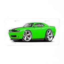 Challenger SRT8 Green Car Aluminum License Plate