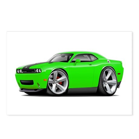 Challenger SRT8 Green Car Postcards (Package of 8)