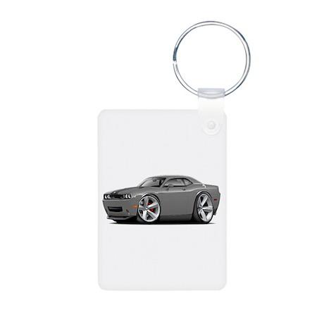 Challenger SRT8 Grey Car Aluminum Photo Keychain