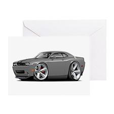 Challenger SRT8 Grey Car Greeting Card