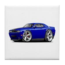 Challenger SRT8 Dk Blue Car Tile Coaster
