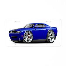 Challenger SRT8 Dk Blue Car Aluminum License Plate