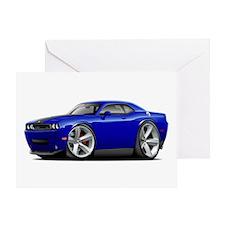 Challenger SRT8 Dk Blue Car Greeting Card