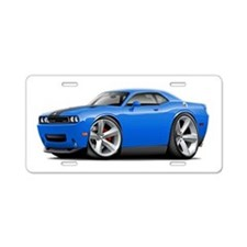 Challenger SRT8 B5 Blue Car Aluminum License Plate