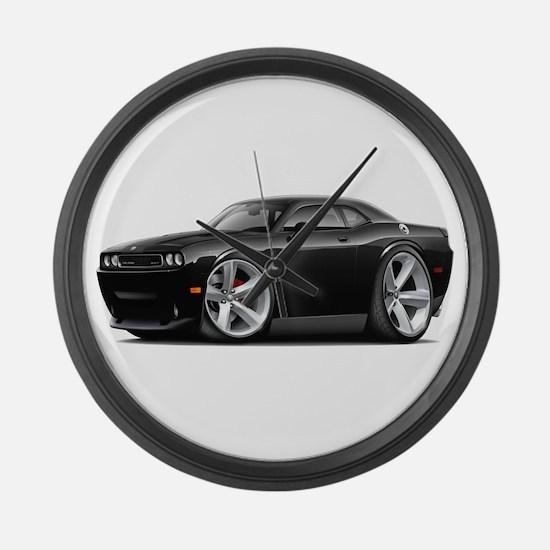 Challenger SRT8 Black Car Large Wall Clock