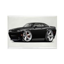 Challenger SRT8 Black Car Rectangle Magnet