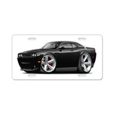 Challenger SRT8 Black Car Aluminum License Plate