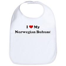 I Love Norwegian Buhund Bib