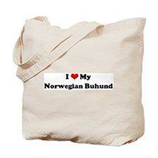 I Love Norwegian Buhund Tote Bag