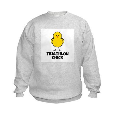 Triathlon Chick Kids Sweatshirt