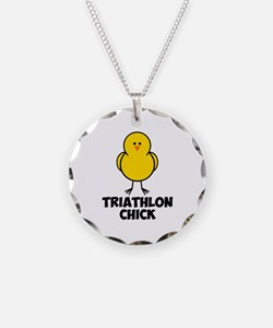 Triathlon Chick Necklace