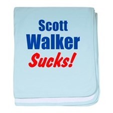 Scott Walker Sucks baby blanket