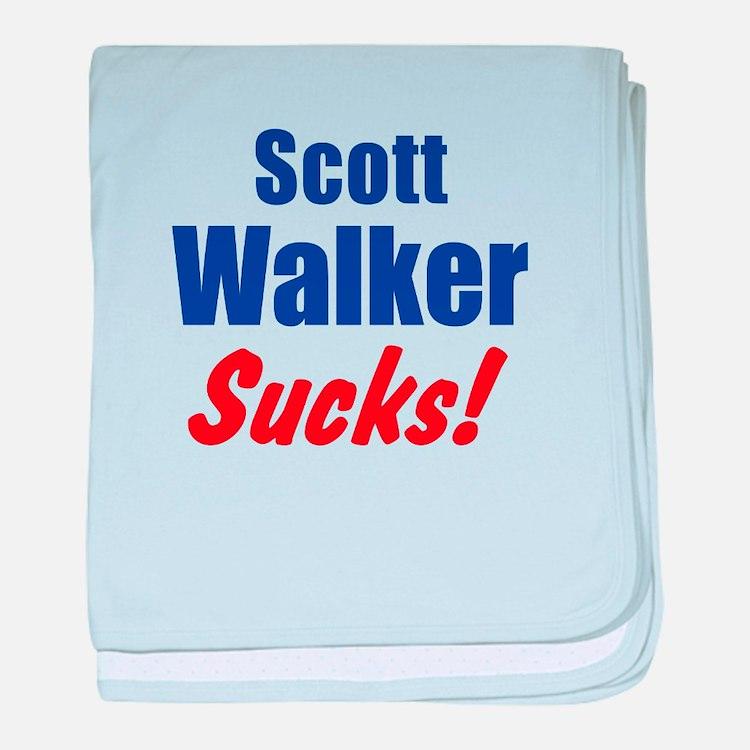Scott Walker Sucks baby blanket