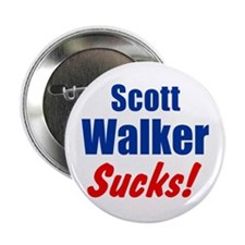"Scott Walker Sucks 2.25"" Button"