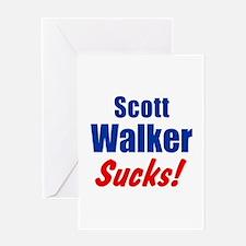 Scott Walker Sucks Greeting Card
