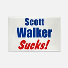 Scott Walker Sucks Rectangle Magnet