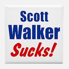 Scott Walker Sucks Tile Coaster