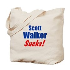 Scott Walker Sucks Tote Bag