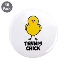 "Tennis Chick 3.5"" Button (10 pack)"